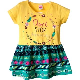 "Желтое летнее платье ""Don't stop dreaming"""