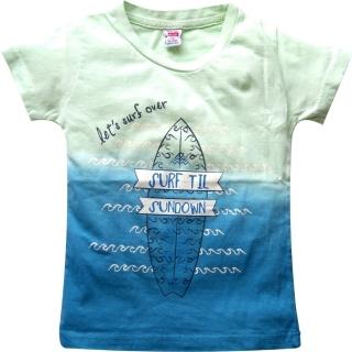 "Сине-зеленая футболка ""Surf"""