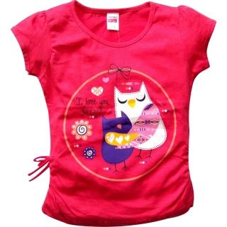"""Красный комплект футболка и капри """"Сова"""""""