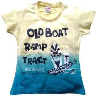 "Желто-голубая футболка ""Old Boat"""