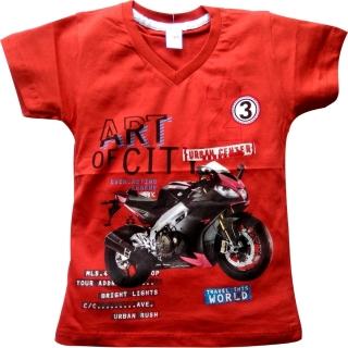 """Красная футболка """"Мотоцикл"""""""