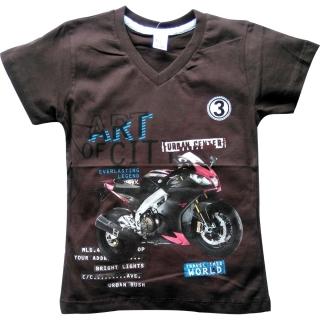 """Коричневая футболка """"Мотоцикл"""""""