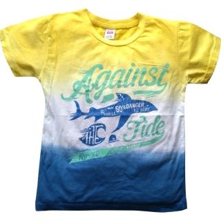 """Желто-голубая футболка """"Рыбка"""""""