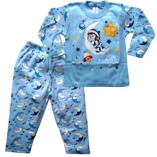 Голубая пижама с обезьянкой