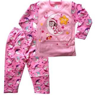 Розовая пижама с обезьянкой
