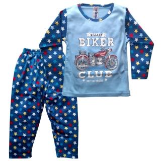 Голубая пижама с мотоциклом