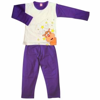 Фиолетовая пижама с оленем