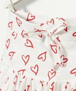 Юбка с рисунком сердечко