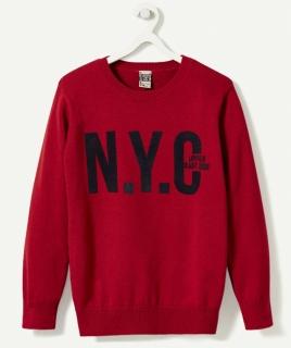 Свитер красный N.Y.C.