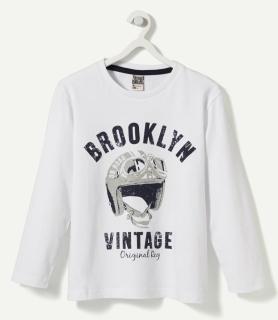 """Футболка белая """"Бруклин Винтаж"""""""