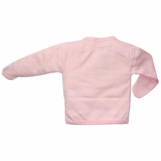 Розовая распашонка с кошечкой