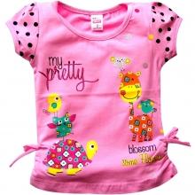 """Светло-розовая футболка """"Жирафик"""""""