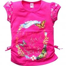 Яскраво-рожева футболка з метеликами