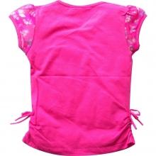 Ярко-розовая футболка с бабочками