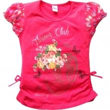 Красная футболка с цветами