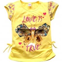 """Жовта футболка """"Метелик"""""""