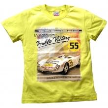 Желтая футболка с машиной