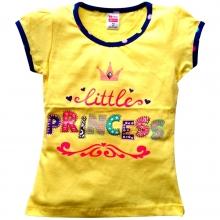 "Желтая летняя футболка ""Princess"""