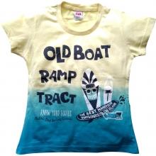 """Жовто-блакитна футболка """"Old Boat"""""""