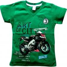 """Зелена футболка """"Мотоцикл"""""""