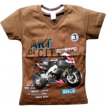 """Светло-коричневая футболка """"Мотоцикл"""""""