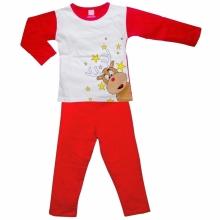 Красная пижамка с оленем
