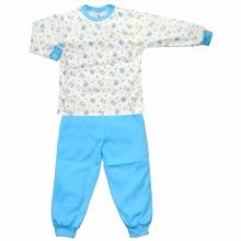 Пижама бело-голубая