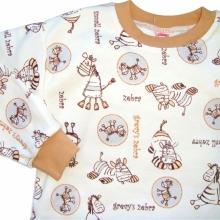 Бежевая пижама с зебрами