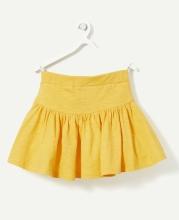Юбка желтая с карманами
