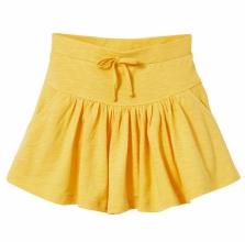 Спідниця жовта з кишенями
