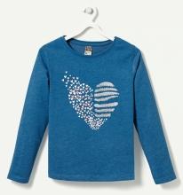 Синяя кофточка с сердечком