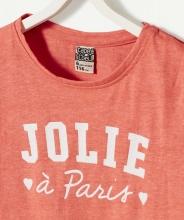 Персиковая футболка