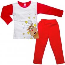 Червона пижамка з оленем