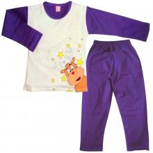Фіолетова піжама з оленем